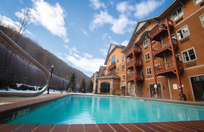 Exterior view of Hunter Mountain Ski Resort.