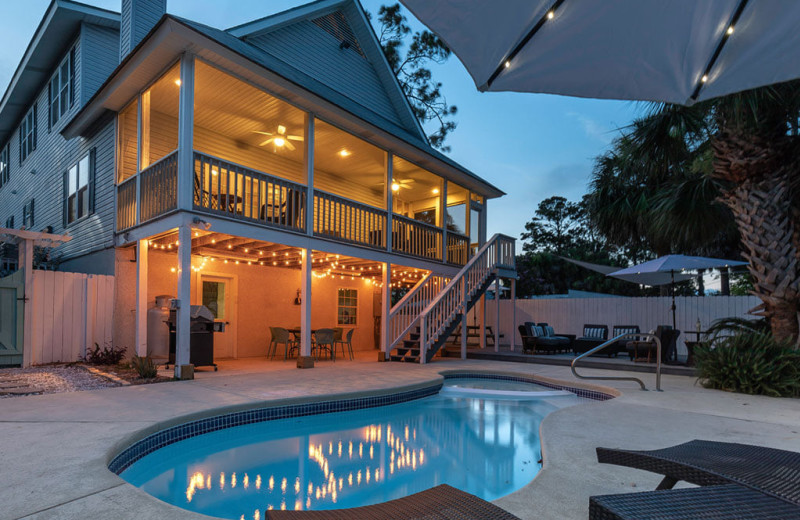 Rental pool at Tybee Vacation Rentals.