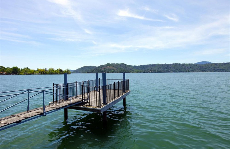 Lake dock at Americas Best Value Inn and Suites Clearlake.