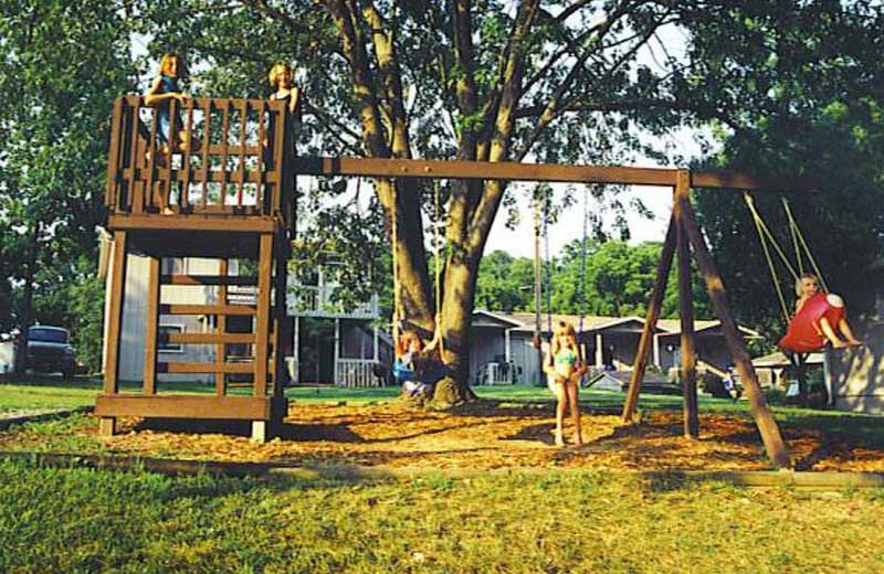 Kid's playground at Sunset Inn Resort.