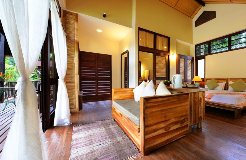 Guest room at Borneo Rainforest Lodge.