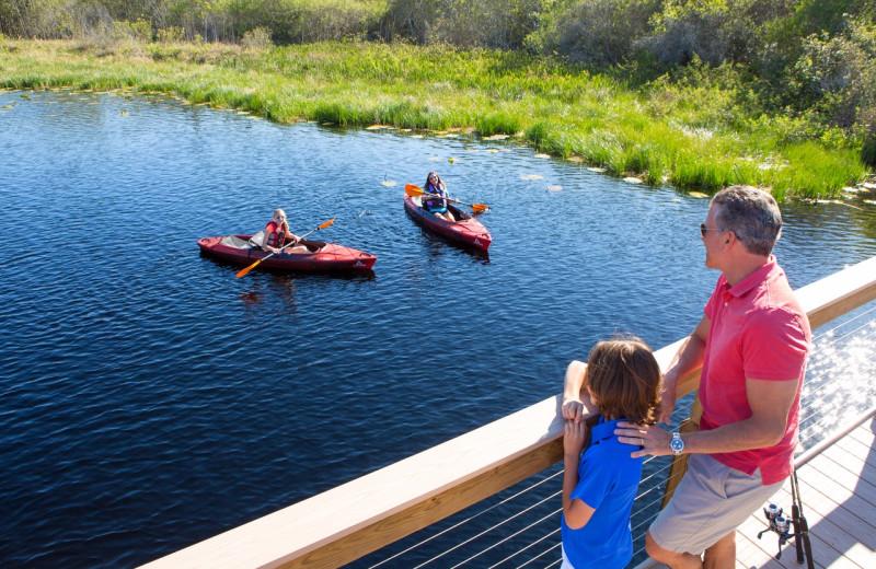Kayaking at The Grove Resort & Spa.