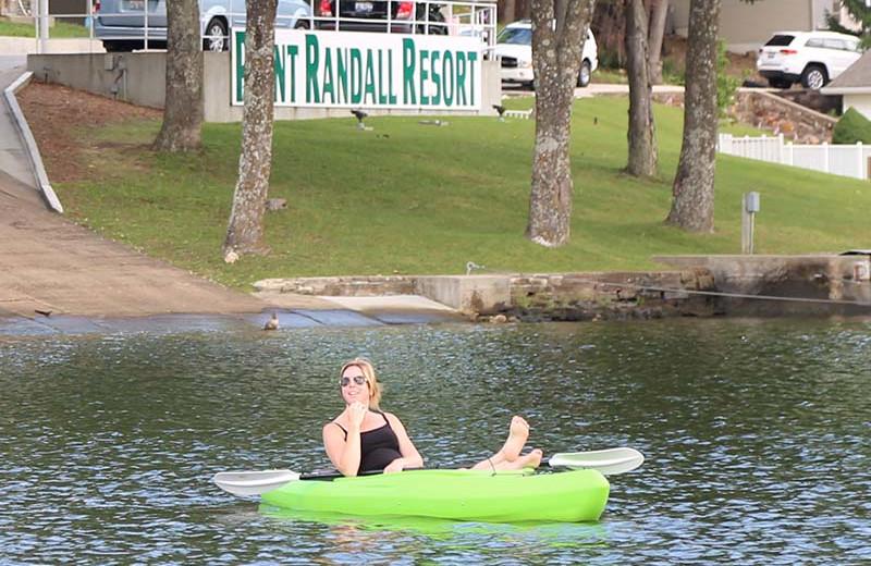 Paddle board at Point Randall Resort.