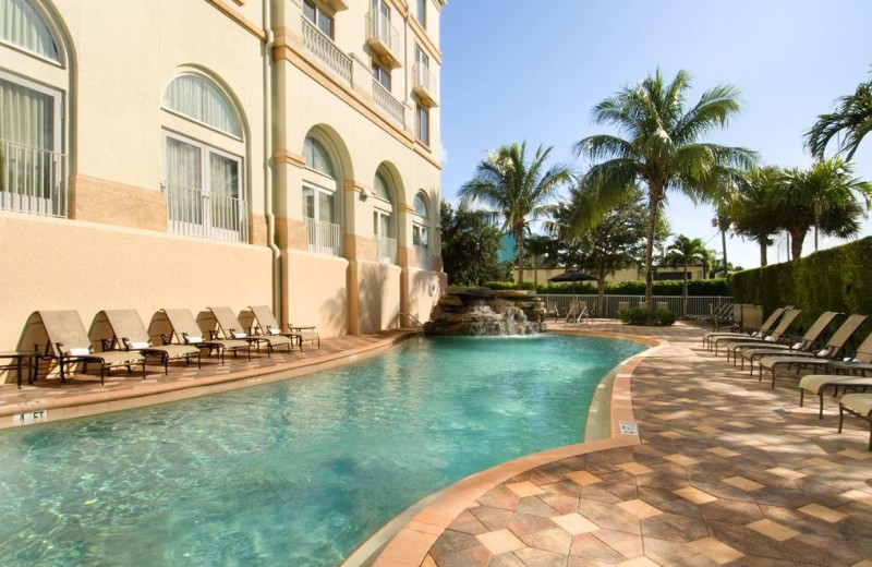 Outdoor pool at Hilton Naples.