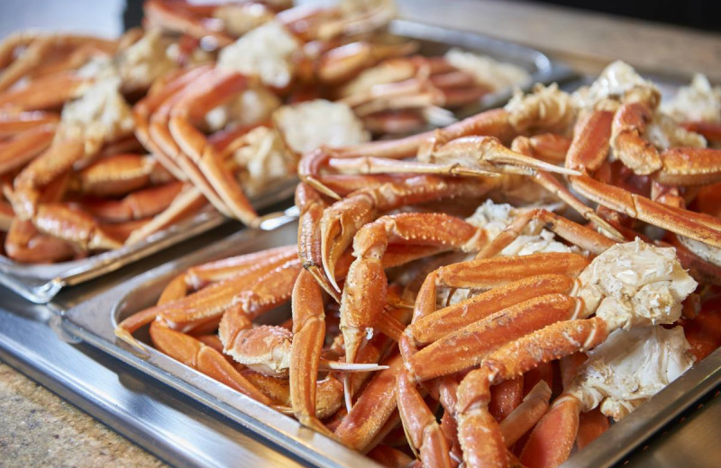 Crab legs at Isle of Capri Casino in Marquette.