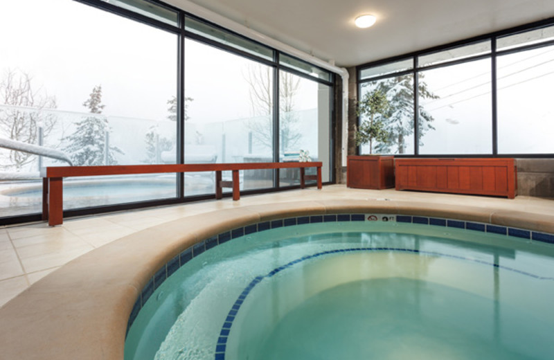 Indoor pool at Alta's Rustler Lodge.