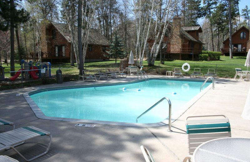 Outdoor pool at Boyd Lodge.