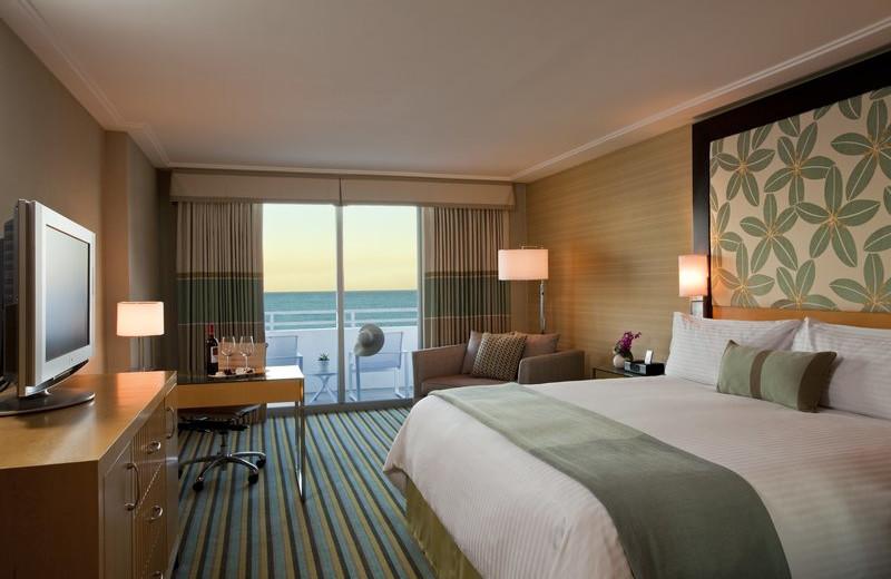 Guest room at Loews Miami Beach Hotel.