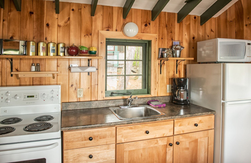Cottage kitchen at The Lodge at Pine Cove.