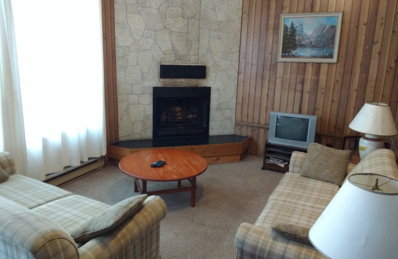 Cabin living room at Sandy Lane Resort.