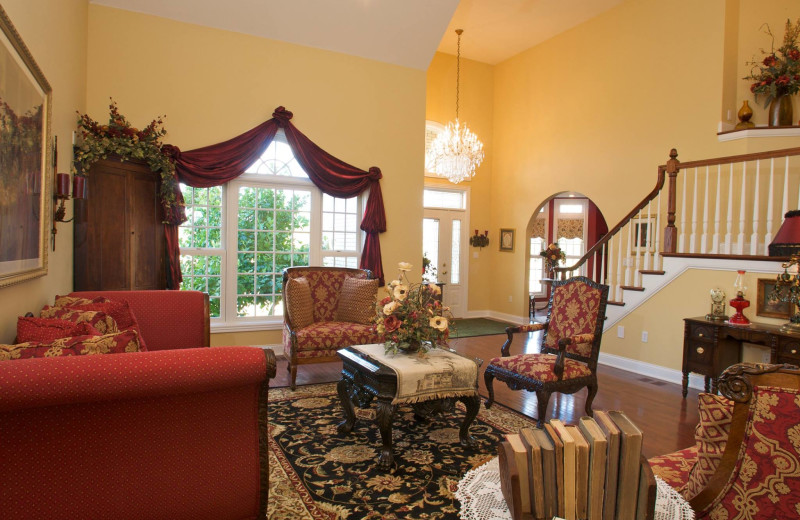 Living room at Southern Grace Bed & Breakfast.