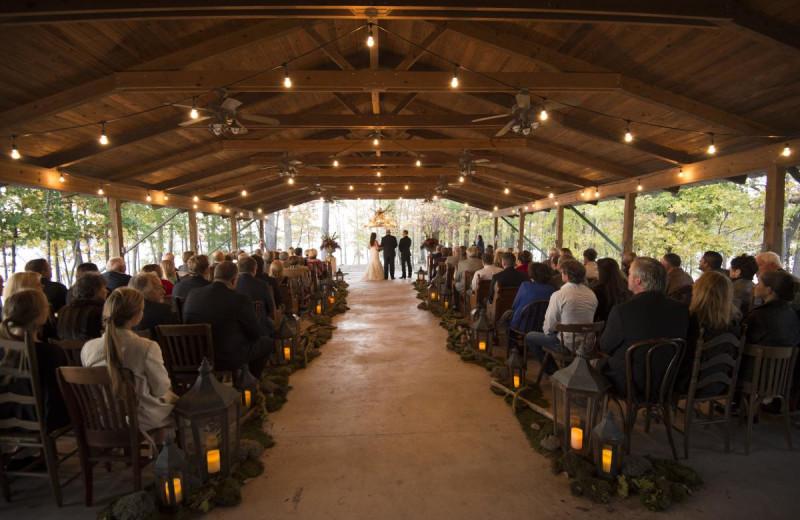 Wedding ceremony at Mountain Harbor Resort & Spa.