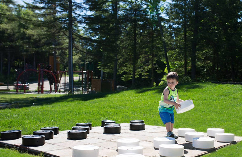 Checkers at Fiddler Lake Resort.
