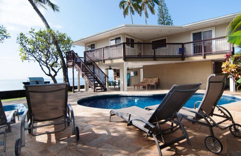 Rental pool at Hawaiian Vacation Rentals.