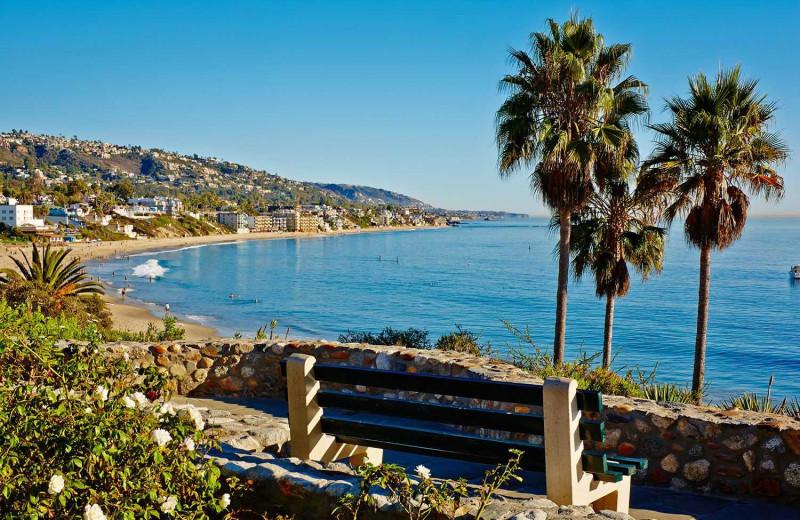 The beach at Laguna Beach Inn.