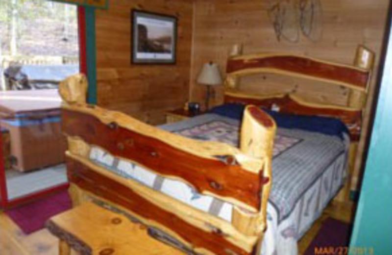 Rental Bedroom at Mountain Memories Cabin Rentals
