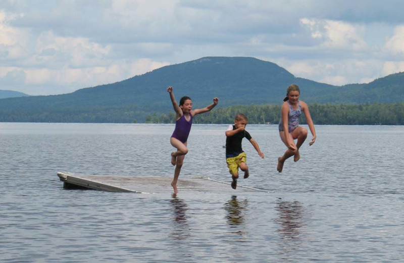 Swimming at The Birches Resort.