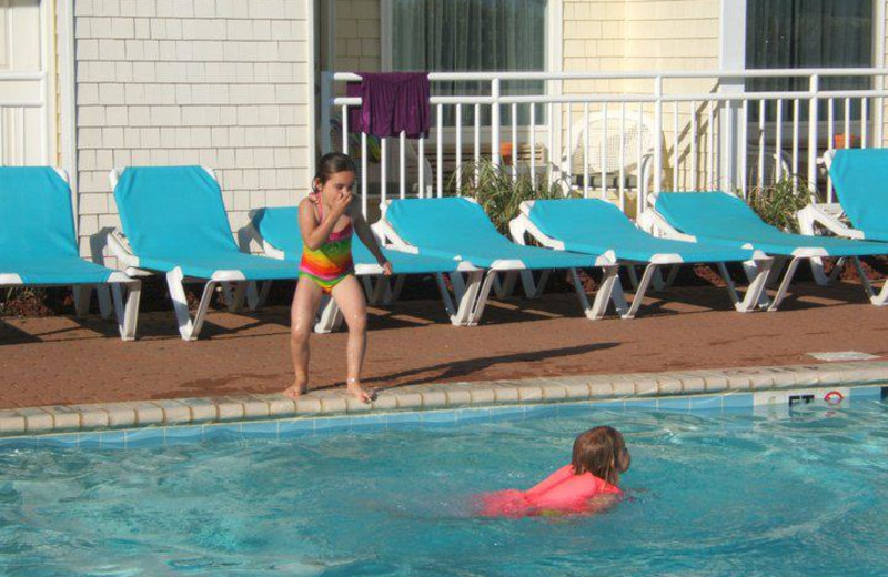 Playing in the pool at The Villas of Hatteras Landing.