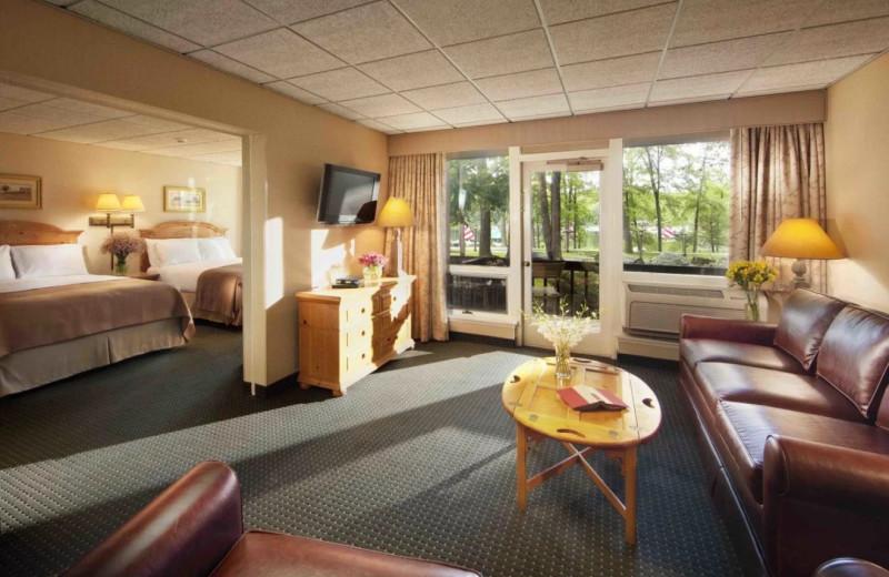 Guest room at Woodloch Resort.
