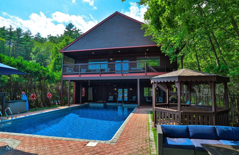 Rental pool at Northern Living - Luxurious Vacation Rentals.