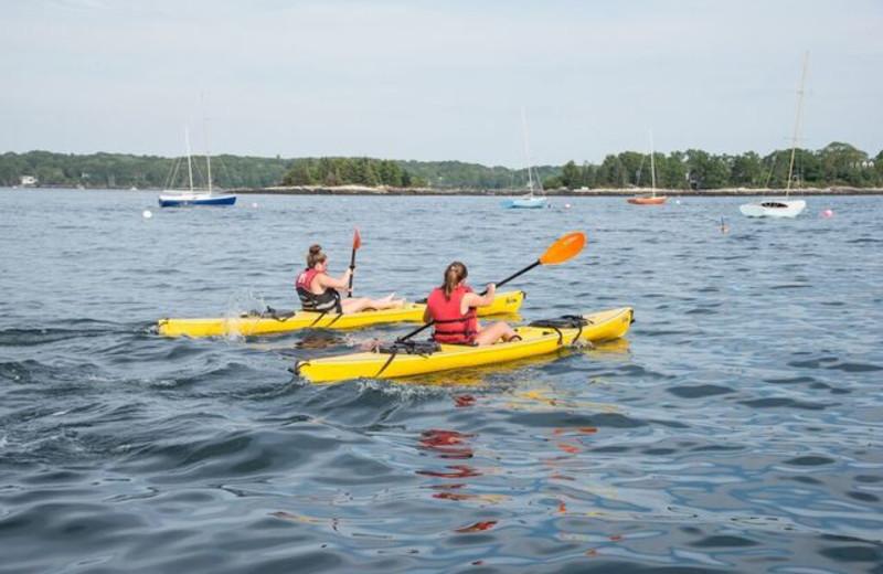 Kayaking at Linekin Bay Resort.