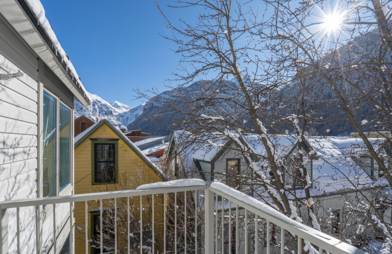 Rental balcony at Accommodations in Telluride.