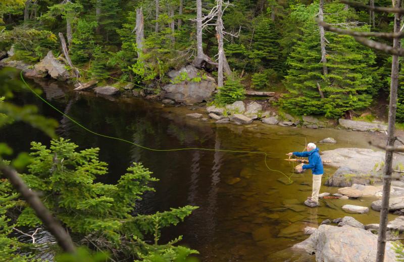 Fishing at Smugglers' Notch Resort.