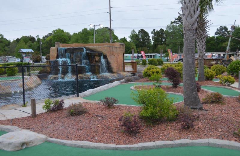 Mini golf near Topsail Realty.