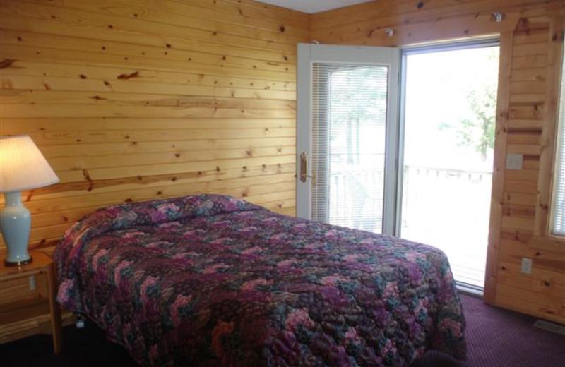 Cabin Bedroom at Ice Cracking Lodge & Resort