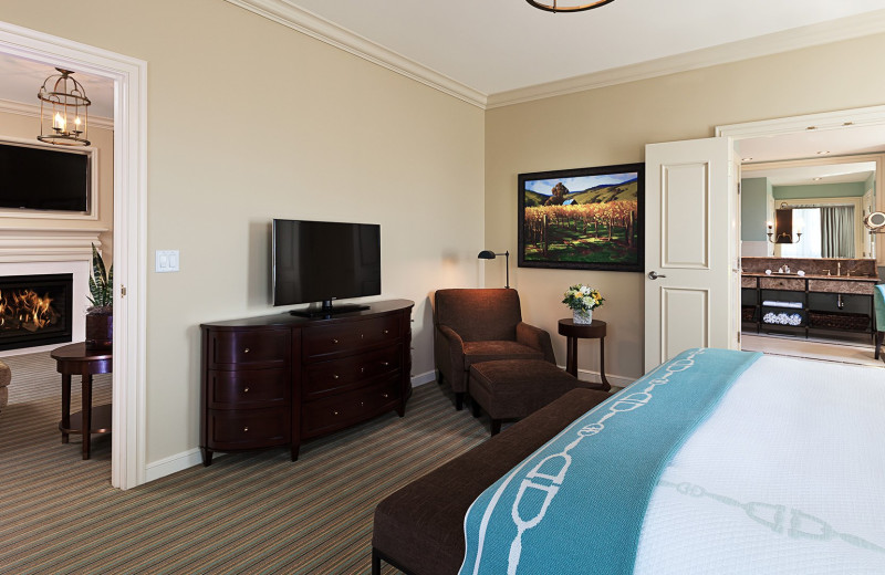 Guest room at Salamander Resort & Spa.