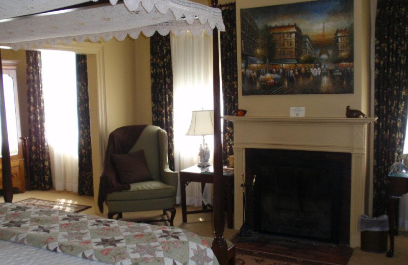 Deluxe Room 1 with fireplace at The Inn at Montpelier.