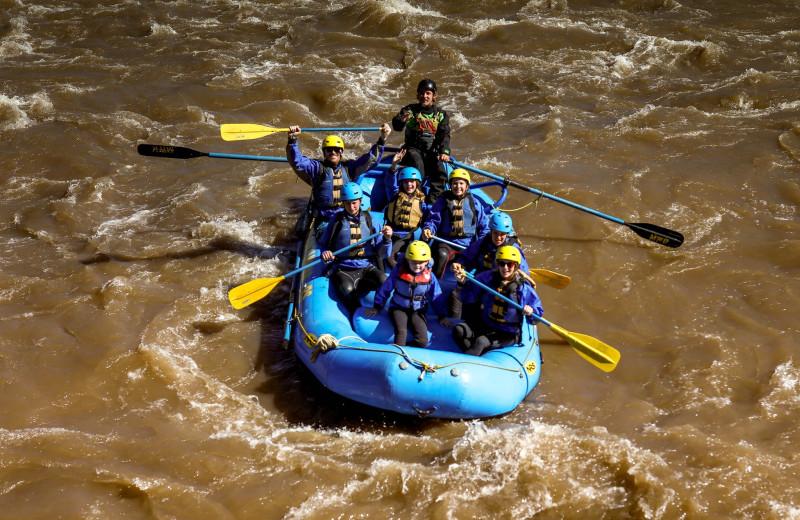 Rafting at Colorado Trails Ranch.