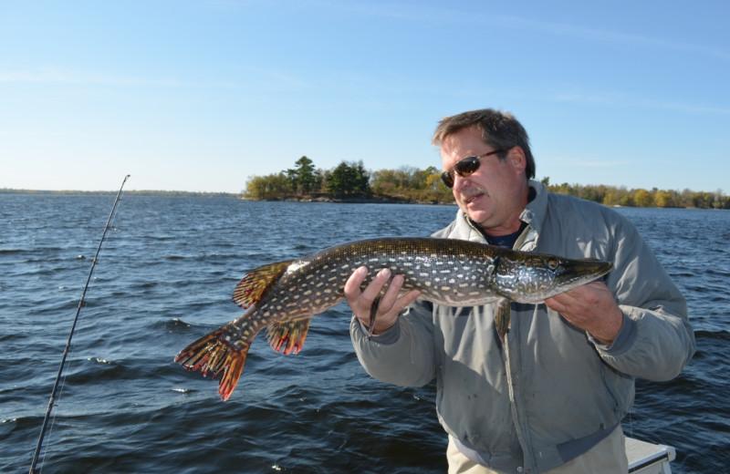 Fishing at Pine Tree Cove Resort.