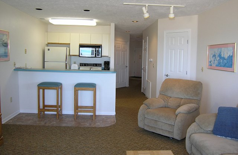 Vacation rental interior at The Beach Condominiums Hotel-Resort.