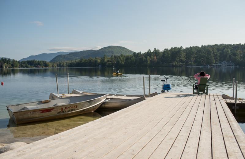Dock at Golden Arrow Lakeside Resort.