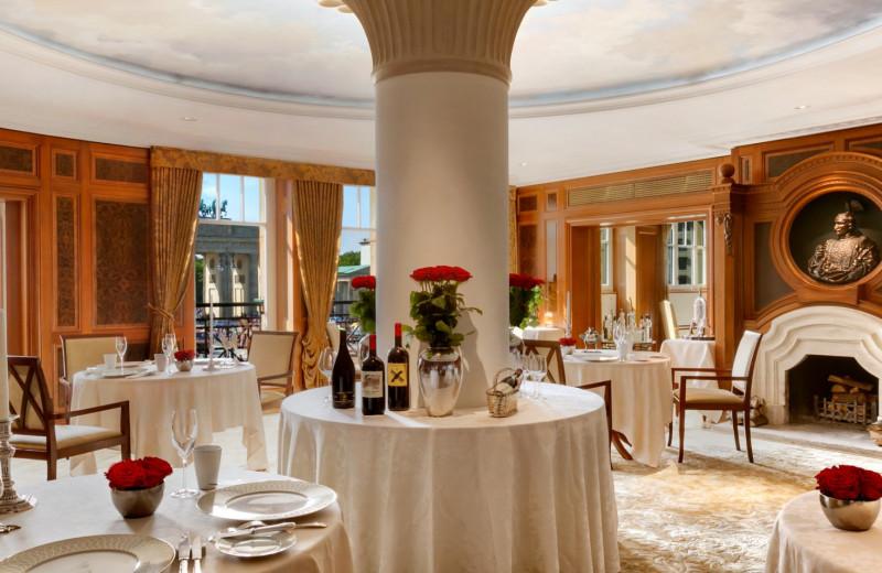 Dining at Hotel Adlon.