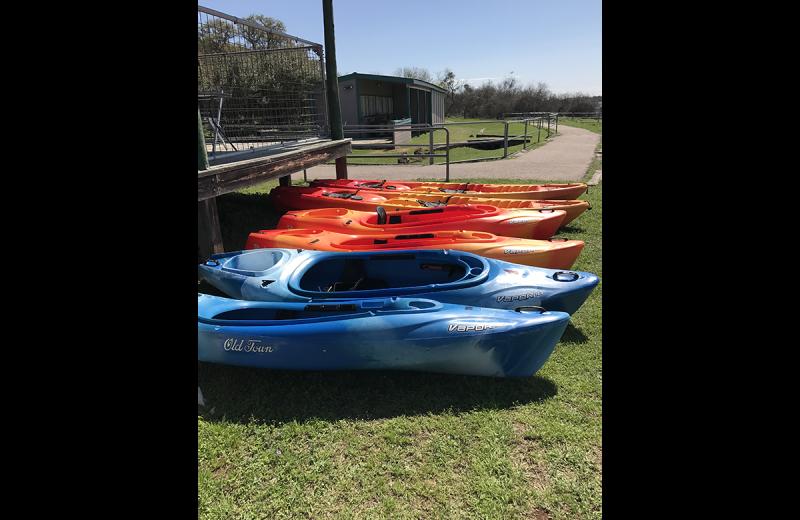 Kayaks at Canyon of the Eagles.