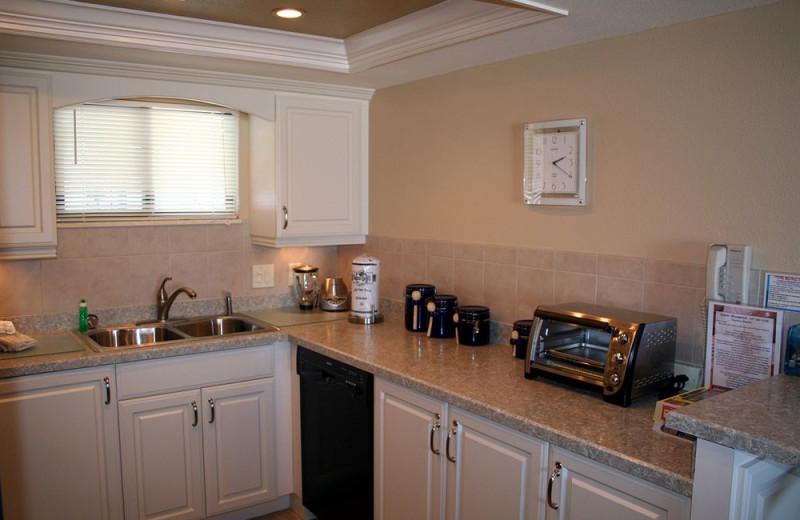 Rental kitchen at Liberte Management Group.