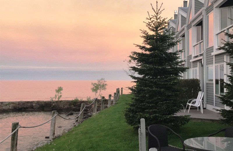 Sunset at Bluefin Bay on Lake Superior.