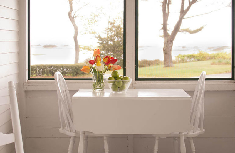 Dining table at The Dunes on the Waterfront.