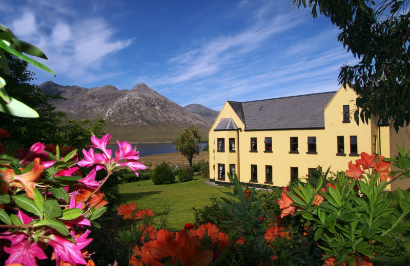 Exterior view of Lough Inagh Lodge.