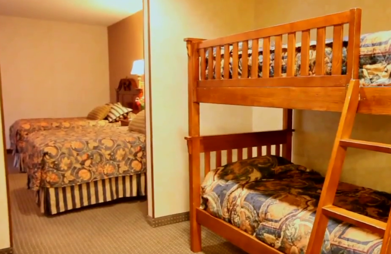 Bunk beds at Rushmore Express Inn & Family Suites.