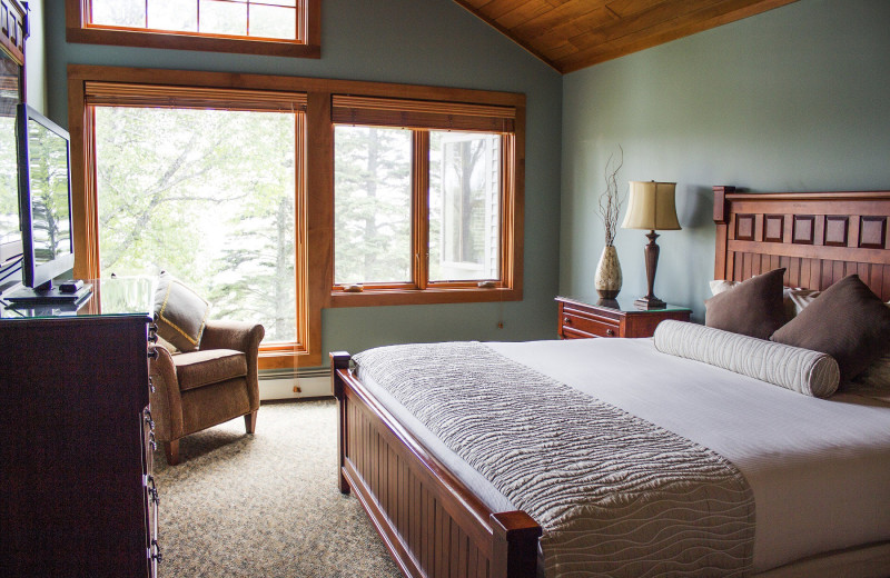 Guest bedroom at Lutsen Resort on Lake Superior.