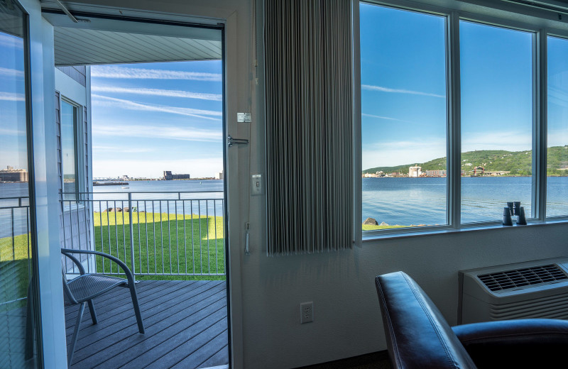 Guest room view at South Pier Inn.