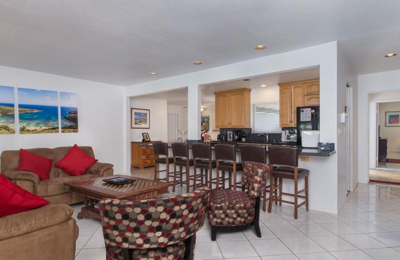 Rental interior at Hawaiian Vacation Rentals.