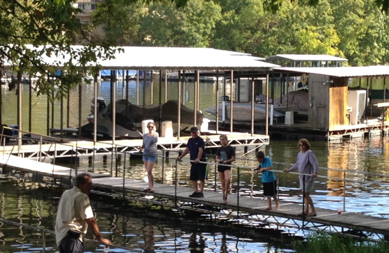 Dock at Alhonna Resort.