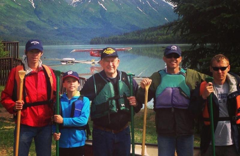 Family at Trail Lake Lodge.