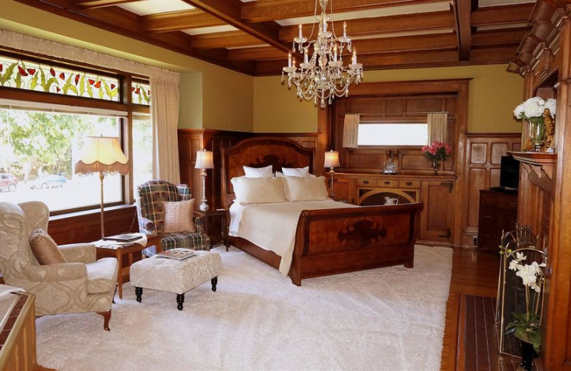 Guest room at Dashwood Manor.