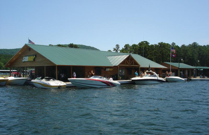Boating activities at Mountain Harbor Resort.