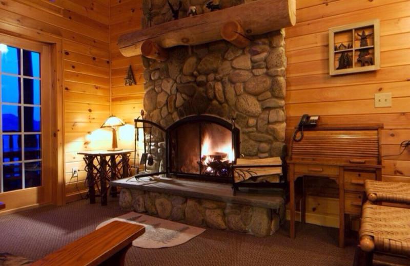 Wood burning fireplaces!
